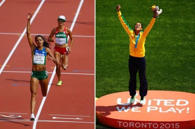 Juliana dos Santos vence a prova dos 5.000m e conquista o primeiro ouro do atletismo brasileiro Na arrancada final, Juliana superou a americana Kellyn Taylor e levou o ouro com o melhor tempo da sua carreira