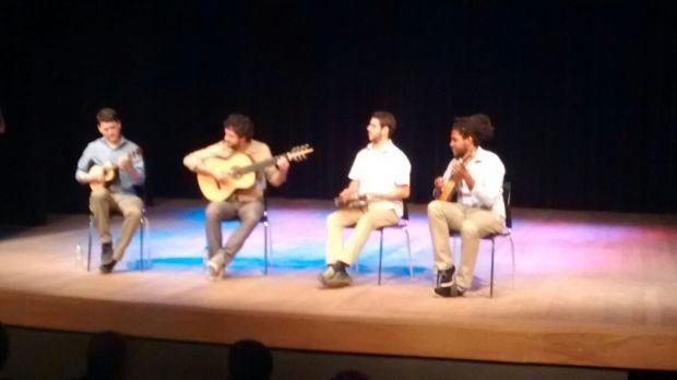 Foto Paulo Cassa - Apresentação musical na inauguração com a presença do Prefeito Haddad e vereadores Ota e Adilson Amadeu