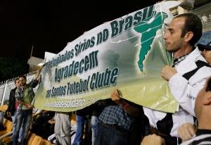 torcida síria assiste e agradece jogo no estádio do pacaembuHeloisa Ballarini / SECOM