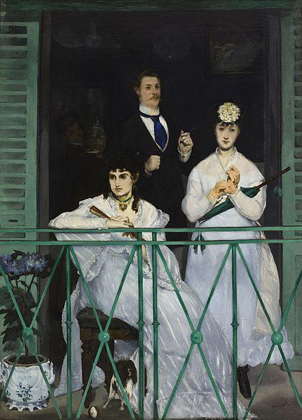 O Balcão - Édouard Manet - A elegância do preto em contraste com o branco
