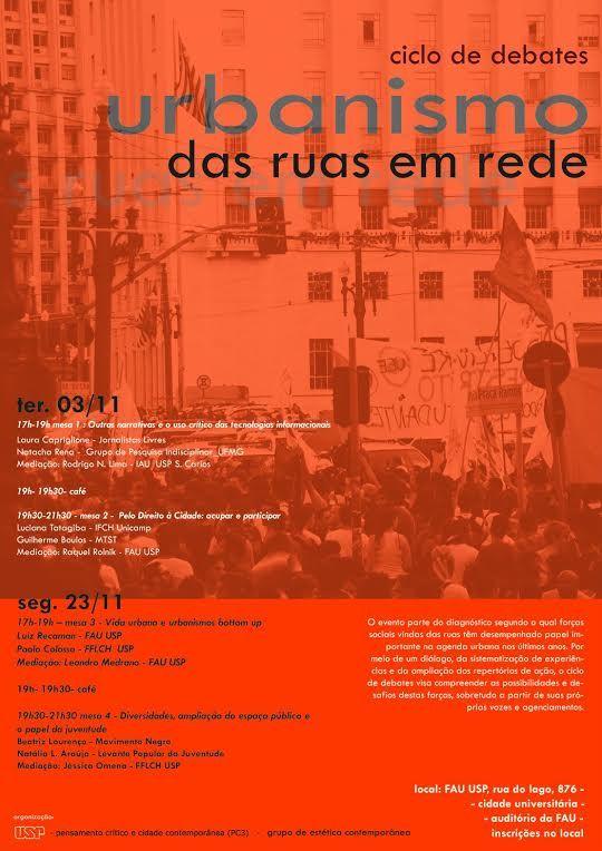 cartaz - Ciclo sobre Urbanismo