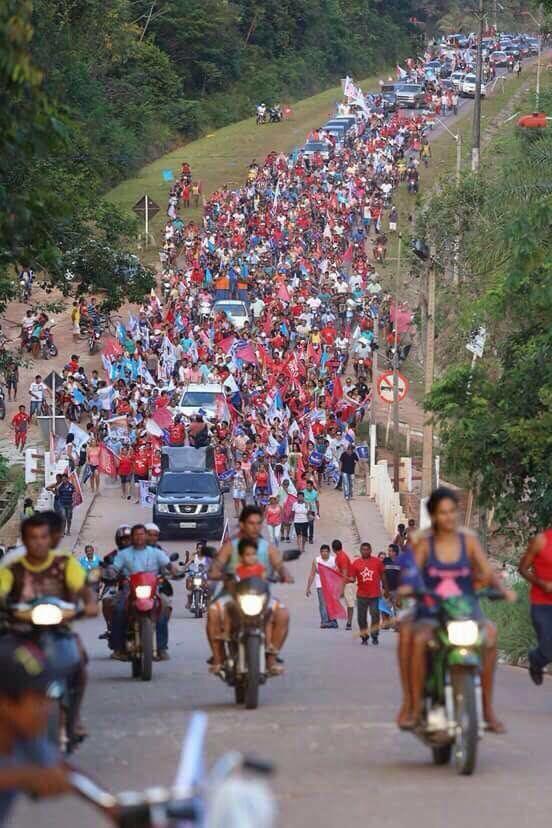 La vem o Brasil descendo a ladeira... Primeiras imagens do Pará. Ricardo targino, do facekook