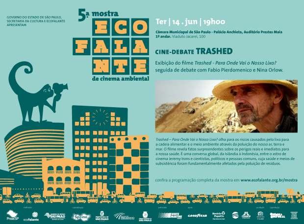 Convite_Escola do Parlamento 14Jun_19h- CMSP Filme Trashed - Para onde vai o nosso lixo