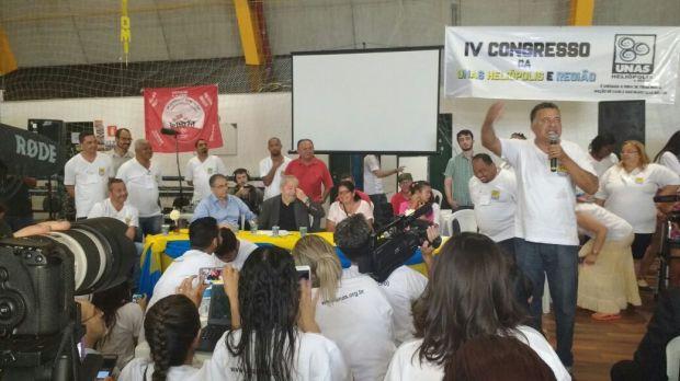 Discurso de João Miranda presidente de honra da Unas. Foto GIl Félix Bento